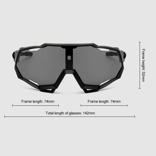 Prova e computador à prova de explosão profissional polarizado óculos de ciclismo óculos de bicicleta esportes ao ar livre óculos de sol uv 4