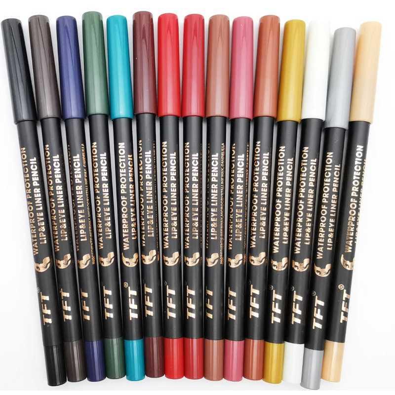 15 farben 1pc Bunte Nude Glitter Lidschatten Eyeliner Stift Multifunktionale Augen Make-Up Kosmetische Maquillaje