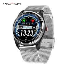 "MAFAM חכם להקת גברים נשים דם לחץ אק""ג קצב לב צג חכם שעון Fittness Tracker Smartband אנדרואיד Ios שעון"
