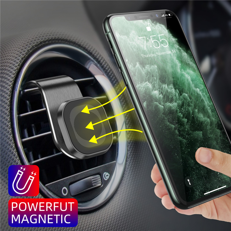 Lovebay Metal Magnetic Car Phone Holder Stand for iphone Samsung Huawei 360 Rotate Air Vent Mount GPS Holder Magnet Stand in Car