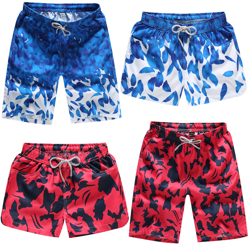 Quick-Drying Couples Beach Large Trunks Seaside Men Short Swimming Trunks Breathable Casual Printed WOMEN'S Shorts