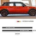 Автомобильные наклейки на корпус двери боковые полосы Наклейка Виниловая наклейка для MINI Cooper S One Countryman F54 F55 F56 R55 R56 R60 автомобильные аксессуа...