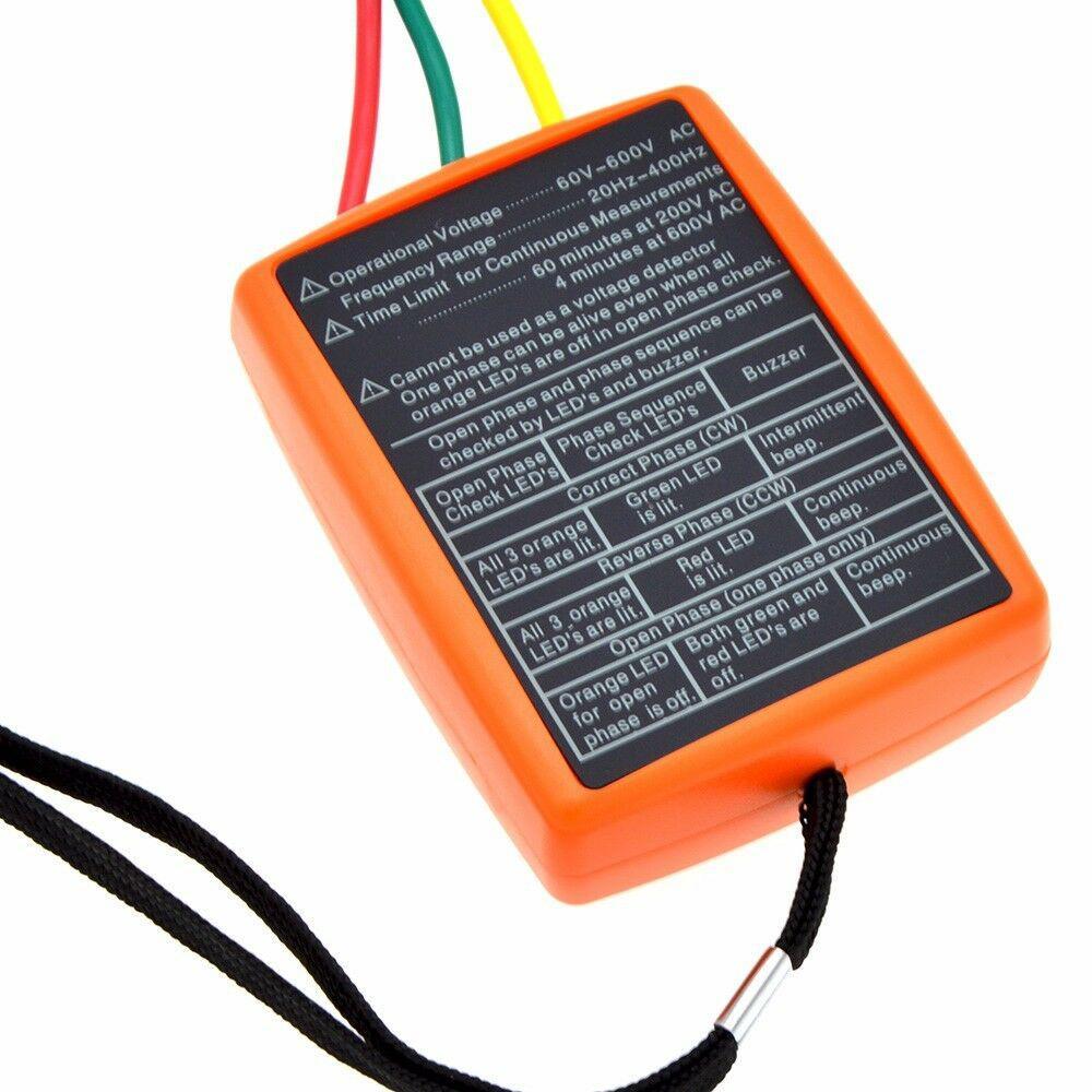 Купить с кэшбэком DishyKooker SM852B 3 Phase Sequence Rotation Tester LED Indicator Detector Checker Meter(Without Battery)