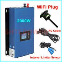 Inversor de conexión de rejilla 2KW MPPT inversor de energía Solar DC 45-90V entrada a salida de CA con nuevo generador conector wifi y limitador inter