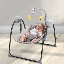 Baby Rocker Baby Swing Cradle Jumper Electric Rocking Crib Intelligence Remote Control Newborn Foldable Rocking Chair цена 2017