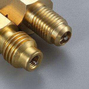 Image 5 - 2 個 R1234yf ホースアダプタ 1/2 インチアクメ lh 左手 1/4 インチ sae 女性の fl 真鍮バルブコア