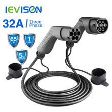 EV Charging Cable 32A 22KW Three Phase Electric Vehicle Cord for EVSE Car Charger Station Type 2 Female to Male Plug IEC 62196