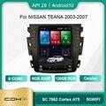 Автомобильная Мультимедийная система COHO для Nissan Teana 2003 - 2007 с экраном Tesla, радио, видеоплеером, GPS-навигацией, Android 10, 6 + 128 ГБ