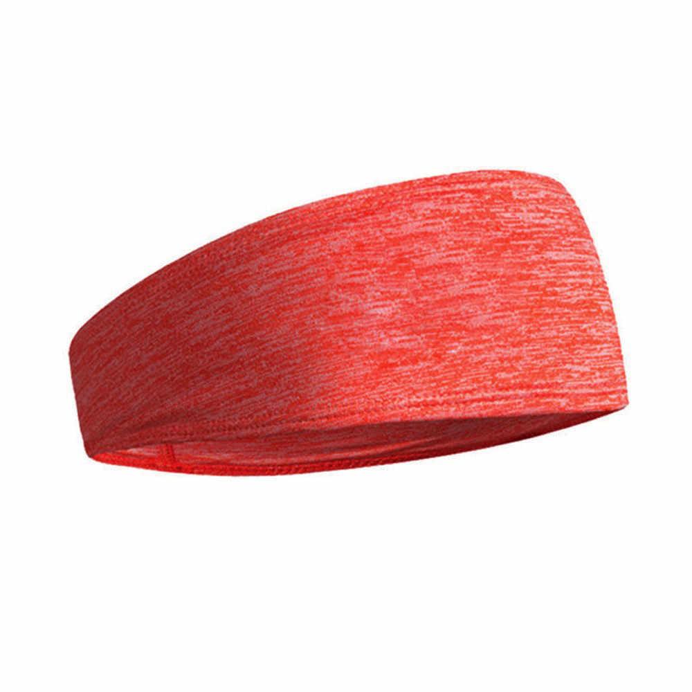 ผู้หญิงผู้ชายสีทึบกีฬา YOGA ผมเหงื่อแถบคาดศีรษะหญิงผมบางผมวงยืดหยุ่นชาย Elegant Hair Hoop wlosow