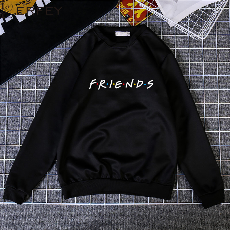 LERFEY Autumn Winter Womens Letters FRIENDS Print Long Sleeve Sweatshirts Ladies Casual Loose Pullover Jumper Tops 3XL Clothes