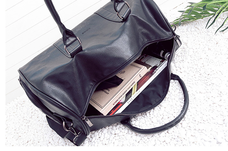Men's Leather Sports Training Bag Durable Gym Bags For Men Women Fitness Military Training Handbag Leather Travel Luggage Tote14