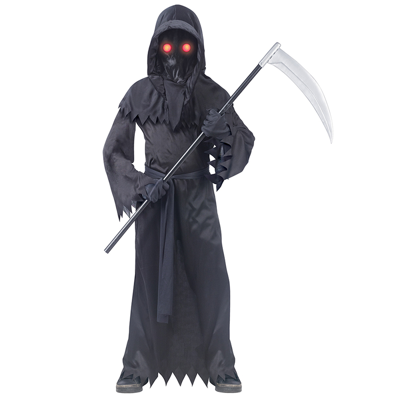 Creepy Red Eyes Fade In And Out Unknow Phantom Grim Reaper Kids Halloween Costume|Boys Costumes| - AliExpress