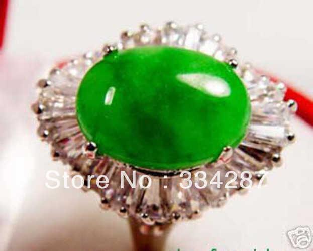 สวยหายากสีเขียวหยกแหวน 7 8 9