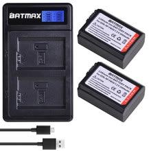 Bamtax-batería NP-FW50 NP FW50 NPFW50 npfw50 + cargador Dual LCD para Sony Alpha a6500 a6300 a6400 a6000 a5000 a3000 NEX-3 a7R