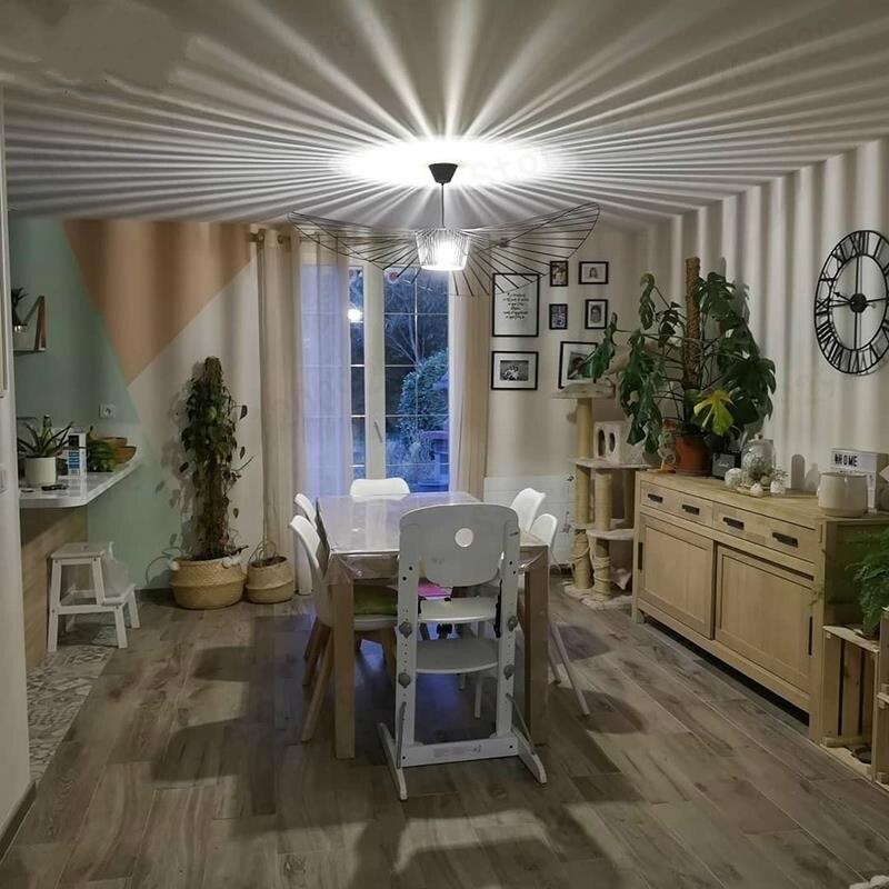 Suspensão lustre pendurar moderno vertigo lâmpada de fibra vidro/poliuretano luz pingente sala jantar sala estar lâmpadas barra café quarto - 3