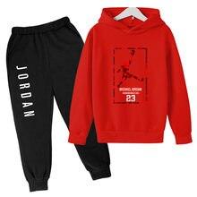 2021 spring Warm children Hoodie JORDAN 23 kid Sportswear Printed Boys' suit Pullover Hip Hop Sportswear Sweatshirt Clothing