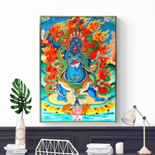 Buddha Religious Belief Thangka Yamantaka Posters and Prints Canvas Art Painting Wall Picture for Living Room Hallway Home Decor