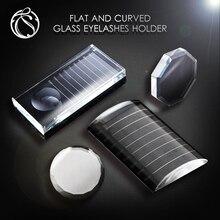 Crystal False Eyelashes Stand Holder Pallet Transparent Eyelash Extension Pallet Lashes Extension Makeup Tool Eyelash Holder недорого