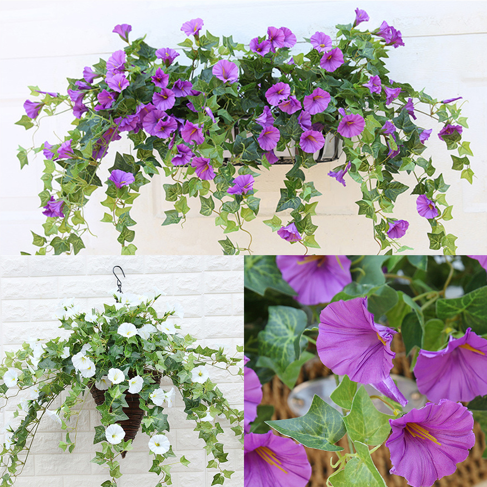 Artificial Bloom Simulation Morning Glory Petunia Simulation Flower Vine Wall Hanging Orchid Home Decoration Home Wedding Decor image