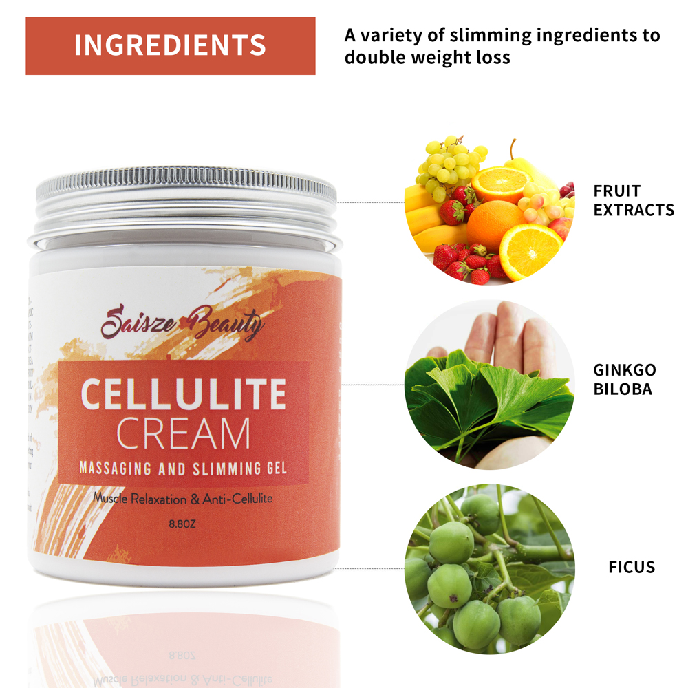250g Drop shipping Cellulite Slimming Cream Hot Massage Leg Skin Relax Cream Adipose Massage Weight Burning Loss 6