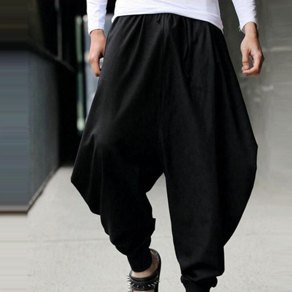 Streetwear Harem Pants Men Hip Hop Cotton Low-Cut Seam Sweatpants Wide Leg Nepal Pants Men Loose Pantalon Hombre Pants