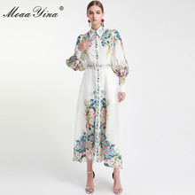 MoaaYina Fashion Designer Runway dress Spring Autumn Women Dress