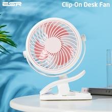 ESR MINI CLIP Fan Universalรถเข็นเด็กทารกแบบพกพาแฟนClip Onพัดลมสำนักงาน 2000 mAhเดสก์ท็อปพัดลมUSBมือถือฤดูร้อนCooler