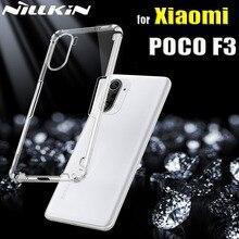 샤오미 POCO F3 5G 케이스 케이스 Nillkin 0.6mm 얇은 투명 투명 실리콘 소프트 폰 뒷면 커버 POCO F3 Coque Funda