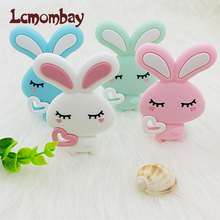 Baby Rodent Baby-Products Rabbit Silicone Teething-Toy Beads Diy Gift Animal-Shape Nursing