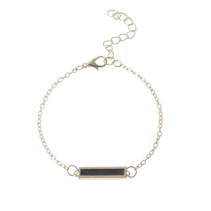 6 pcs/set Love Heart Infinity Symbol Charm Bracelets for Woman Gold Link Chain Bracelets Hollow Feather Black Beads Braclet Girl