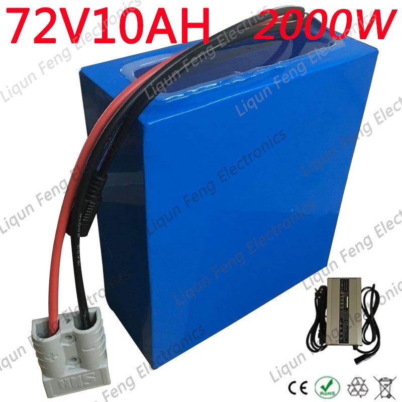 72V Battery pack 72V 10AH Electric Bike Batttery 72V Lithium Battery 72V 1000W 1500W 2000W Electric Scooter Battery With Charger