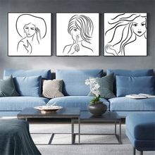 Abstract Sexy Woman Line Canvas Posters Prints Nordic Decor Pictures Wall Art Prints Painting Minimalist Scandinavian Home Decor abstract minimalist sexy line woman wall art canvas painting nordic posters and prints wall pictures for living room home decor