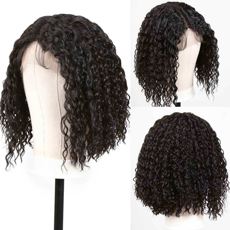 Rosabeauty 28 30 Inch  Front Human Hair Wigs Pre Plucked Brazilian Deep Wave Frontal Wig  For Black Women