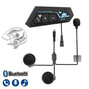 Image 1 - Bluetooth 5.0 Motor Helm Headset Draadloze Handsfree Stereo Oortelefoon Motorhelm Hoofdtelefoon Mp3 Speaker Helm Intercom