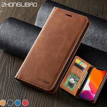 Card Wallet Flip Phone Case for Iphone 11 Pro Xs Max X Xr 8 7 6 S 6s Plus 5 5s Se Coque Original Protection Luxury Leather Case цена и фото