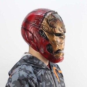 Image 3 - Zombie Iron Man Mask Gauntlet Cosplay Superhero Tony Stark Latex Masks Gloves Halloween Props