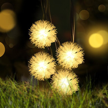5M 20Leds Edelweiss Solar Led String Light Waterproof Garden  Christmas Party Fairy Globe Lighting Decoration