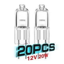 20 PCS High Quality Halogen G4 AC12V 20W Lamp JC Type G4 Halogen Light Bulbs G4 Base Clear Halogen halogen lamps indoor lighting