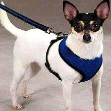 Regulowane szelki dla zwierząt domowych kołnierz pas bezpieczeństwa siatkowa kamizelka dla psa Puppy Cat artykuły dla psów regulowane smycz akcesoria