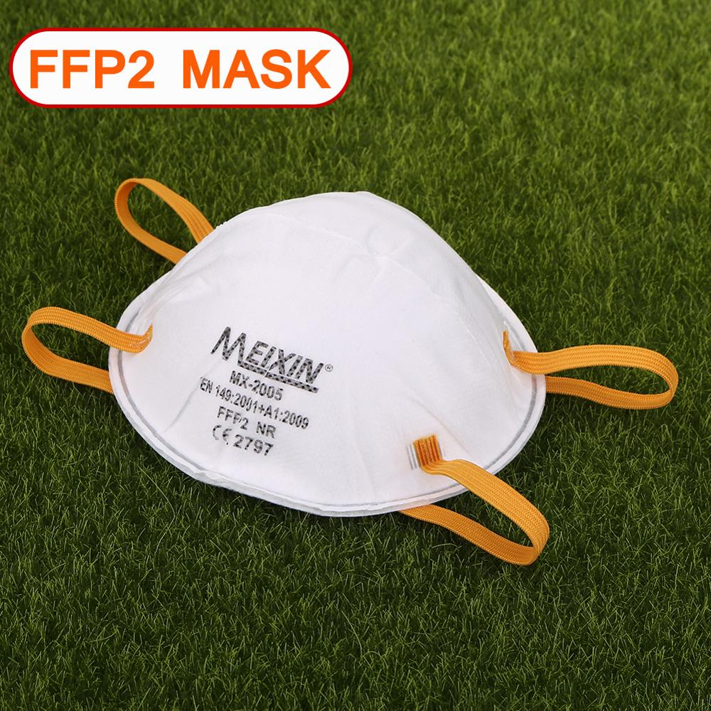 1/5pcs FFP2 Mask Non-woven Face Mask Anti-dust Protective Non-woven Mouth Cover Safety Breathable Earloop Mask For Adult Instock