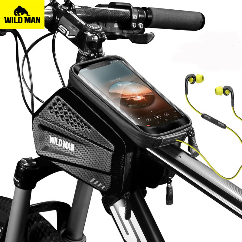 Bicycle Front Frame Bag Top Tube Phone Bags Waterproof Touch Screen Rainproof