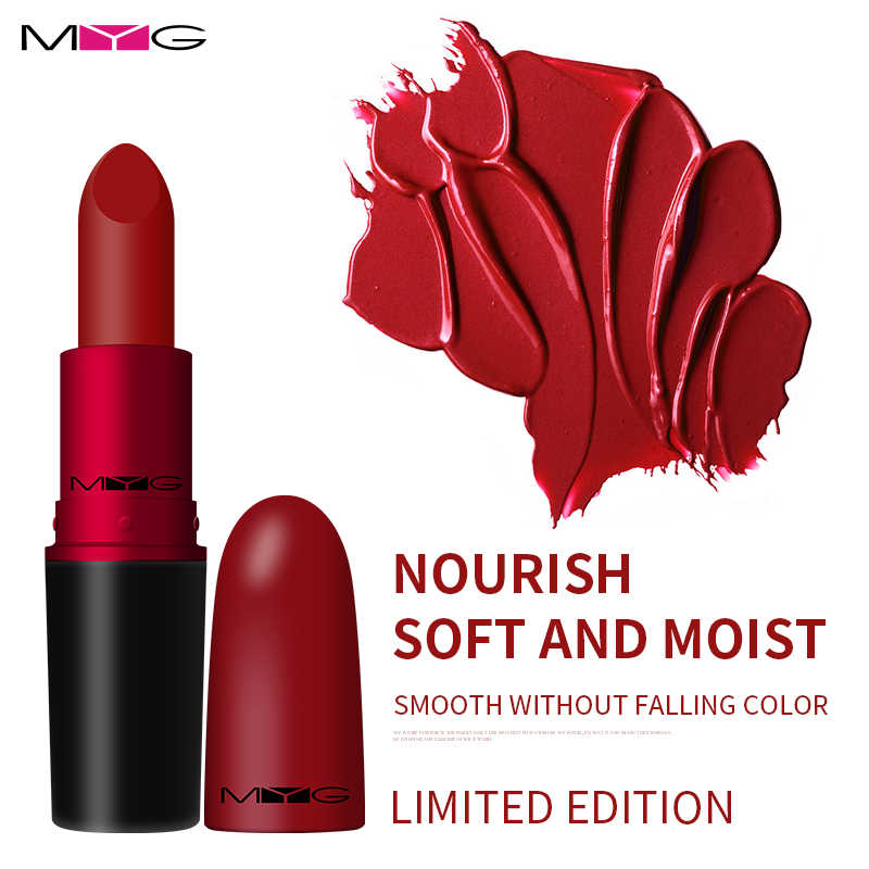 Marque maquillage lèvres rouge à lèvres rouge à lèvres doux mat rouge à lèvres durable-longue imperméable rubis woo rouge à lèvres