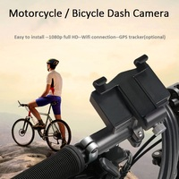 VSYSTO A4S WIFI motorcycle bicycle dash cam with cell phone bracket single lens video recorder support wifi and gps tracker