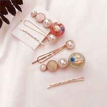 Korean Pearl Accessories Hair Constellation Clip Stick Women Jewelry Trendy Pins