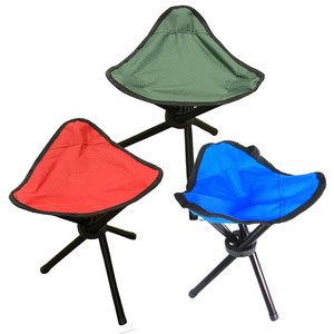 Portable Folding Three-legged Stool Chair Seat For Outdoor Camping Picnic Foldable Fishing Chairs Travel Ultralight Outdoor Tool