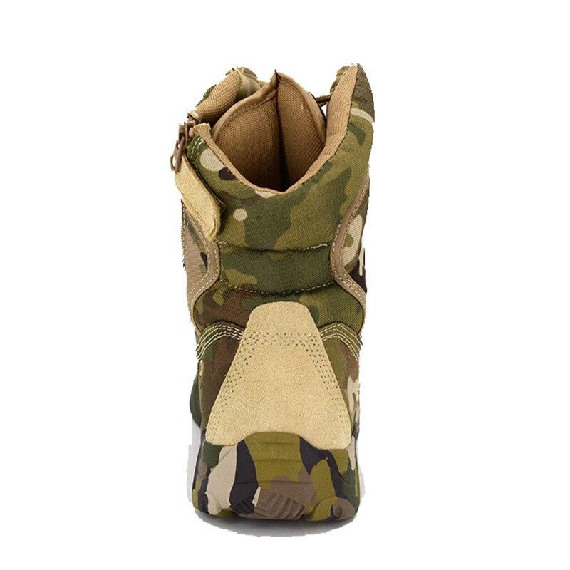 Bottes militaires Combat armée Camouflage 2019 chaussures d'hiver hommes Oxford tissu à lacets tactique botte de neige travail hommes chaussure 39-40 - 4