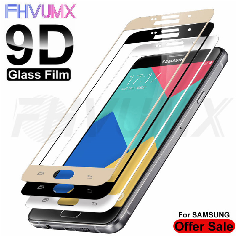 9D Protective Glass On For Samsung Galaxy A3 A5 A7 J3 J5 J7 2016 2017 Screen Protector For Samsung S7 Tempered Glass Film Case
