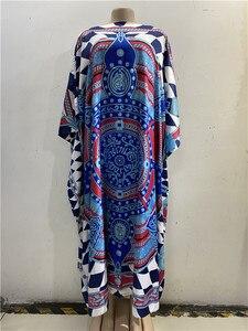 Image 3 - Długość sukni: 130cm biust: 130cm 2018 nowe modne sukienki Bazin nadrukiem Dashiki kobiety długa sukienka/suknia Yomadou kolorowy wzór oversize
