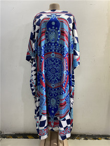 Image 3 - Robe nouvelle mode, Bazin imprimé Dashiki, longue robe/robe, Yomadou, motif de couleur surdimensionné, longueur: 130cm buste: 130cm