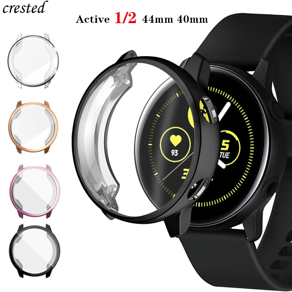 Case For Samsung Galaxy Watch Active 40 44 Mm TPU All-Around Cover Bumper+film Screen Protector Galaxy Watch Active 2 44mm 40mm